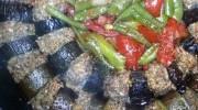 Domatesli Biberli Patlıcan Kebabı