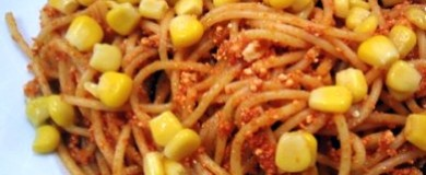 Mısırlı peynirli Spagetti