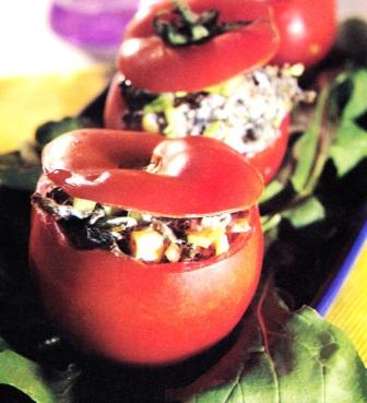 Domates Dolması Salatası
